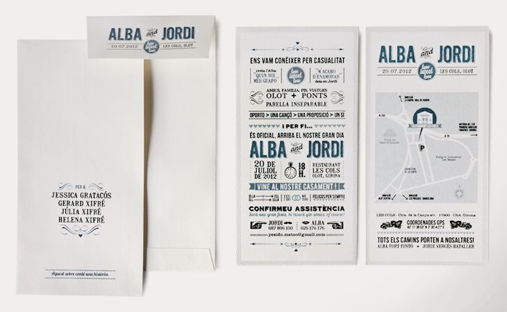 Stationery for a wedding