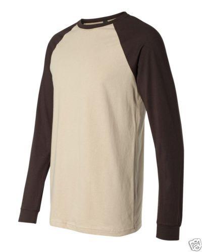 Manga-Longa-De-Lona-Raglan-beisebol-t-shirt-3000-S-2XL-Raglan-Algodao-Esportes-Novo
