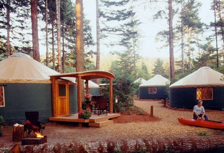 Yurts On Lake Superior Uncle Ducky S Paddlers Village Rent Platform Tents Yurts Kayaks