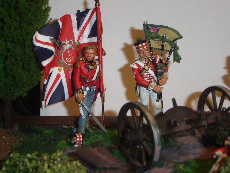 Voltigeurs e Glasgow Highlanders - Waterloo 18 giougno 1815