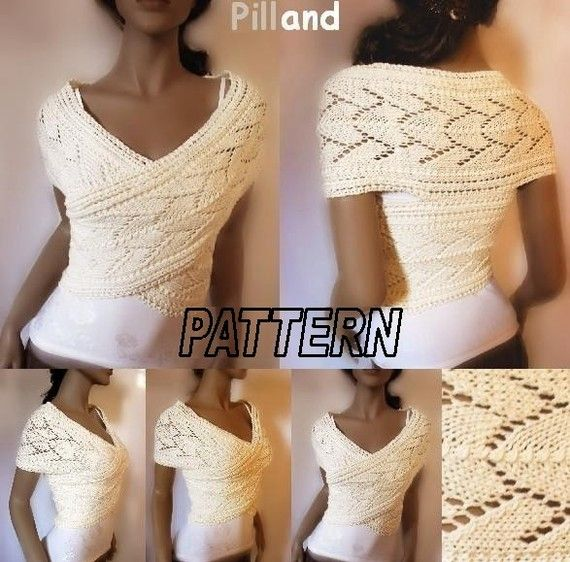 Knitting Pattern Womens Sweater Pattern Knitted Vest Pattern PDF Pattern Downloadable Patterns - So cute!  It's just a long scarf sewn together in the back!