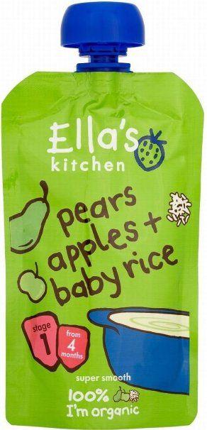 Ella's Kitchen Pere Organici, Mele E Riso Bambino 4Mth + (120g) (Confezione da 6)