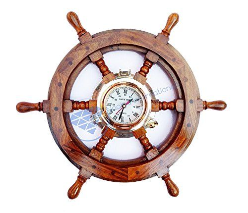 "18"" Nautical Brass Porthole Ship Wheel With Time Roman Cl... http://www.amazon.com/dp/B01FGDZSC0/ref=cm_sw_r_pi_dp_UVEoxb0PMK1TE"