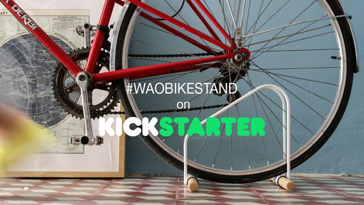 The WAO Bike Stand is an indoor parking solution for your bike designed and made by Sandra García & Sergio Mendoza in Spain.