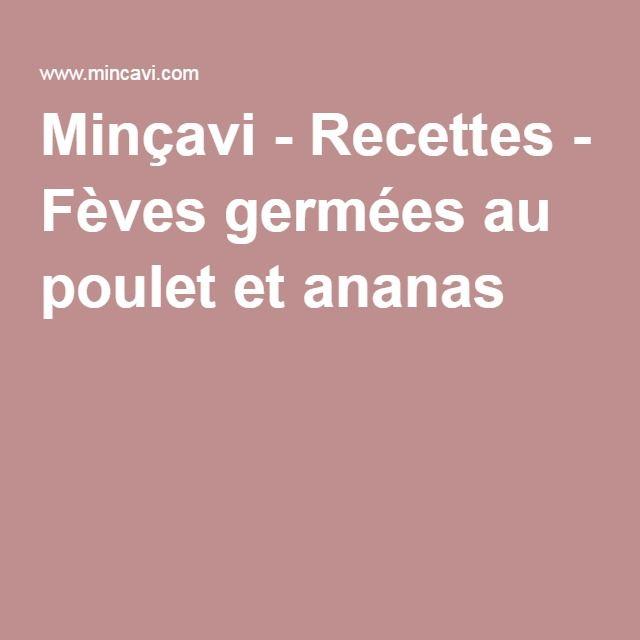Minçavi - Recettes - Fèves germées au poulet et ananas