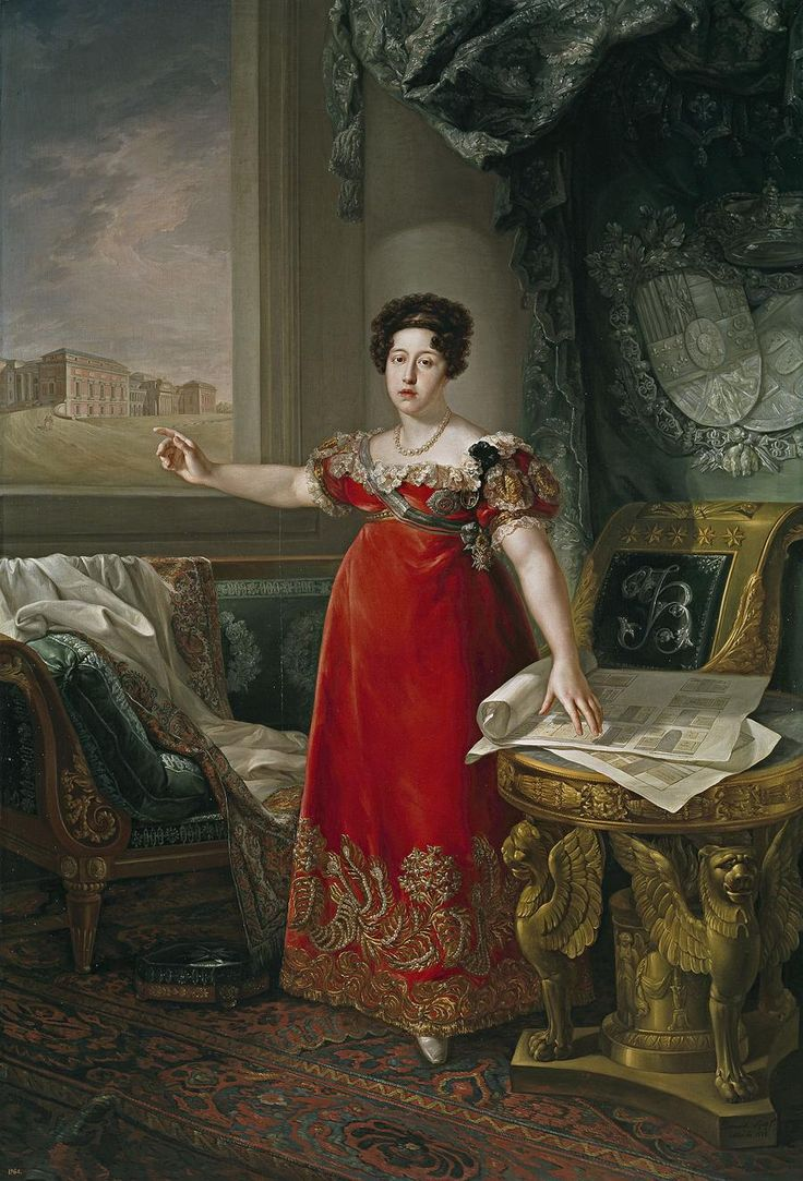 MARIA ISABEL DE BRAGANÇA, was the daughter of D. João VI and D. Carlota Joaquina de Borbón who became queen of Spain, when marrying with his uncle D. Fernando VII. She was an enthusiast of Fine Arts, Academic of Honor and Counselor of the Royal Academy of Fine Arts in Madrid. She was the founder of the Prado Museum, the most important in Spain and the World.