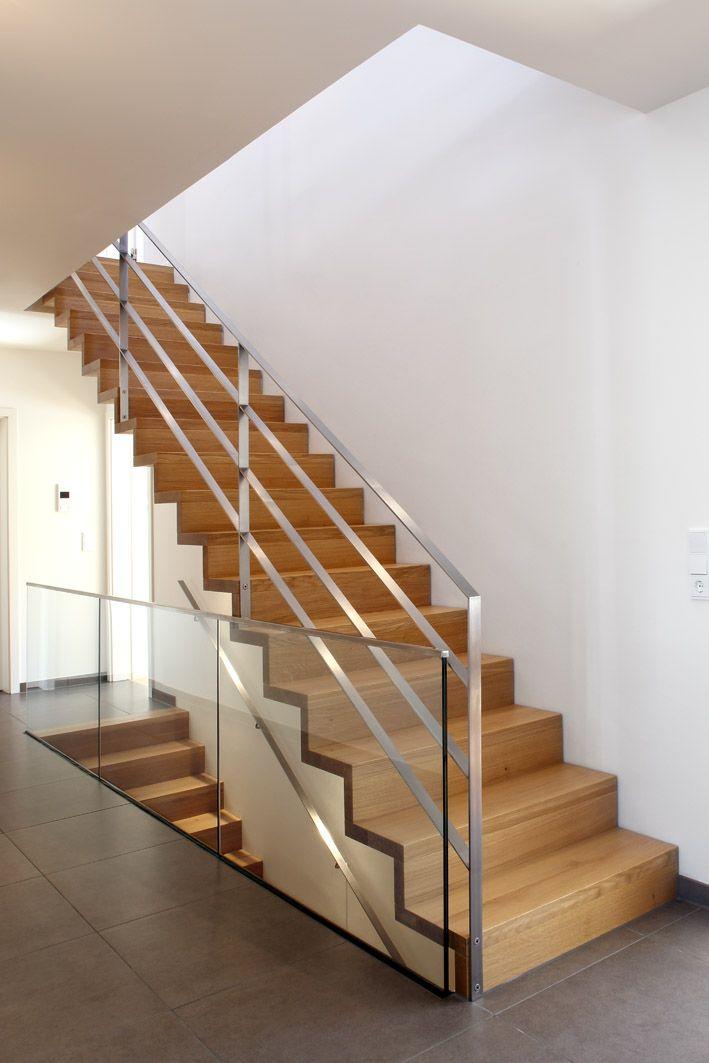 Treppengeländer Holz Und Glas ~   Holz auf Pinterest  Setzstufen, Treppe und Parkett Eiche