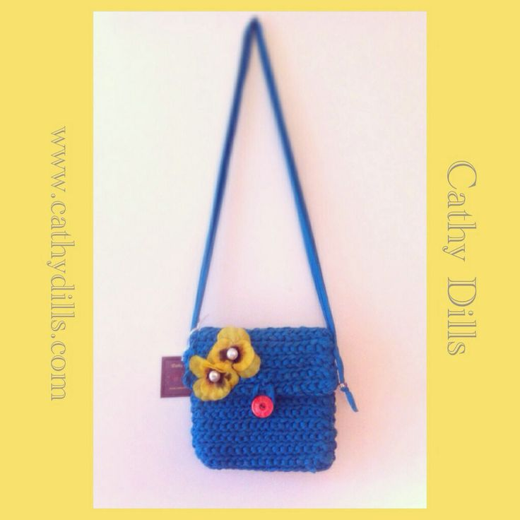 """""""Crochet handbag"""" by Cathy Dills.  www.cathydills.com"""