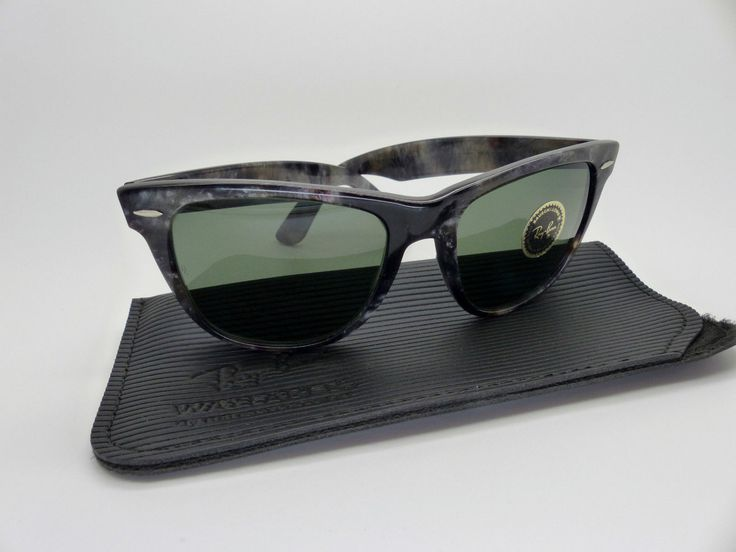 classic 1980s ray ban wayfarer  vintage bl ray ban wayfarer ii grey frost 54mm original 1980s ltd edition nos by vsox