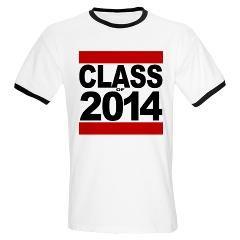 Class of 2014 Bold Block T-Shirt, Graduation Gift Ideas #classof2014 #seniorclass #2014graduate $19