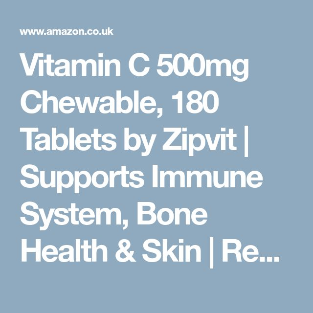 Vitamin C 500mg Chewable, 180 Tablets by Zipvit | Supports Immune System, Bone Health & Skin | Reduces Tiredness and Fatigue | 6 MONTHS SUPPLY: Amazon.co.uk: Health & Personal Care