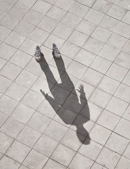 """""""My shadow is there but I erase myself because I don't know who I am any longer. I do not react in the same ways I used to. The shoes remain only to make sure there is something more than… a shadow."""""""