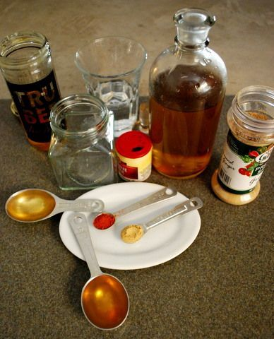 """Homemade cough medicine using local, raw honey that we """"make"""" in out own back yard.  We have some for sale right now."""