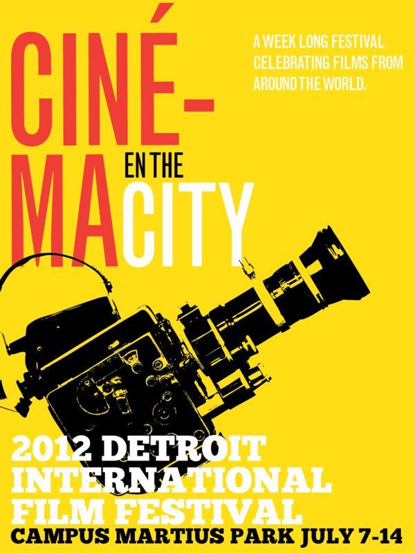 2012 Detroit International Film Festival by HUNTER LANGSTON, via Behance