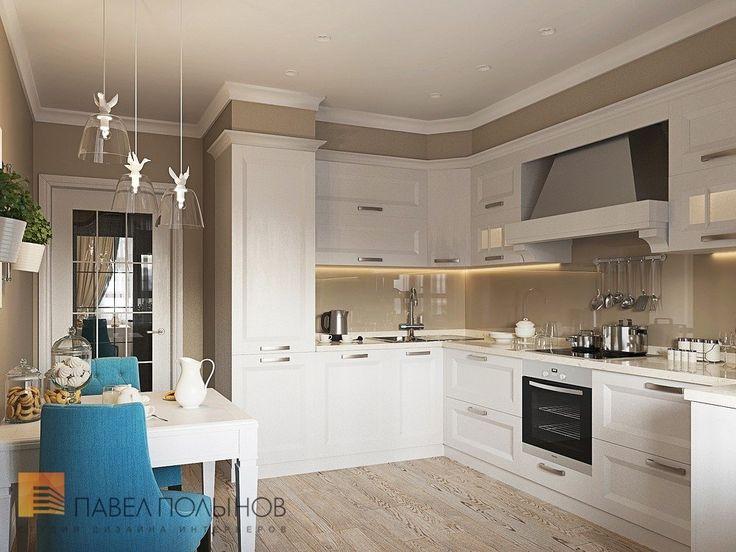 Фото: Интерьер кухни - Интерьер квартиры в стиле легкой классики, ЖК «Академ-Парк», 68 кв.м.