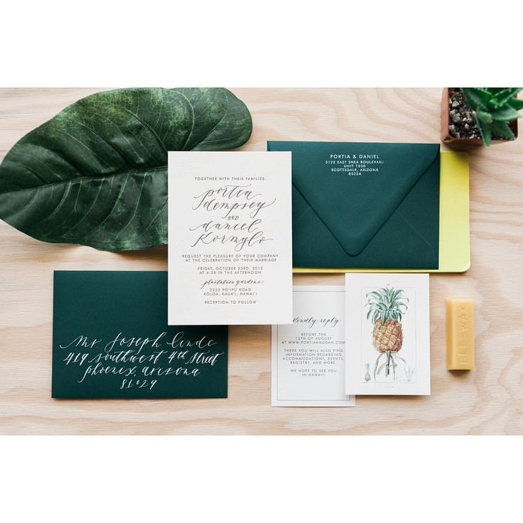Tropical Hawaii Wedding Invitation Suite by Cast
