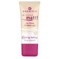 Essence, All About Matt!, Oil - Free Make - Up (Podkład matujący do twarzy) słabo kryje, delikatny, ale fajny skłąd