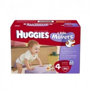 Huggies Little Movers Diapers Economy Plus, Size 4, Count 160 Huggies little movers diapers are shaped to fit babies on the go, and come with the proven leakage protection of the huggies leak lock system. Plus, huggies little movers diapers are more absorbent then pampers swaddlers with dry max.