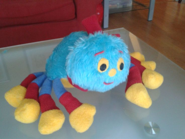 Soft toy #2 inspired by Woolly the Spider from Woolly and Tig TV series