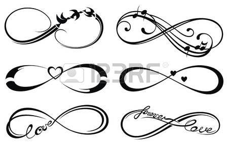 Infinity liebe, für immer Symbol. Lizenzfreie Bilder - 41771508