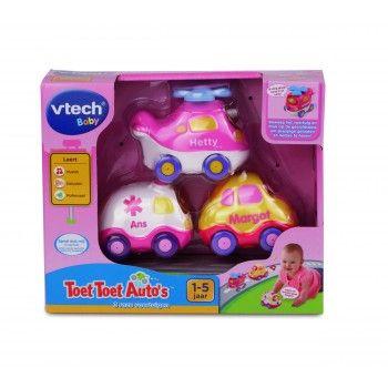 VTech Toet Toet Auto's Roze, 1-5 Jaar - Vrolijke voertuigen met meerdere gezongen liedjes en korte melodietjes. Bewegingssensor activeert grappige zinnetjes en muziek. Iedere auto heeft een knipperende gezichttoets. Te gebruiken met de diverse Toet Toet Auto's speelsets. Met Magische Sensor herkenning.