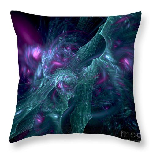 Throw pillow with fractal design by Tracey Lee Art Designs