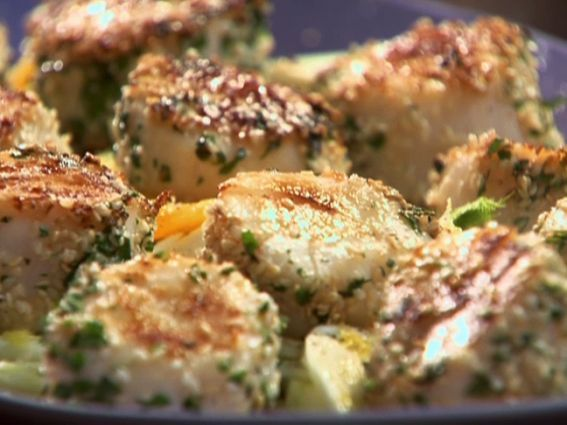 Herb and Sesame Scallops