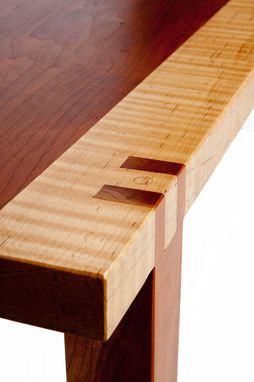 The Materials In This Piece Are Exceptional Tiger Maple And Curly Cherry  With Exposed Double Dados At Its Best.