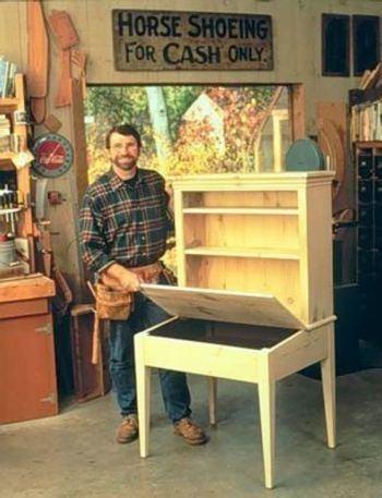 R-NYW9011 - Planters Desk Woodworking Plan Featuring Norm Abram | Norm Abram | Pinterest ...