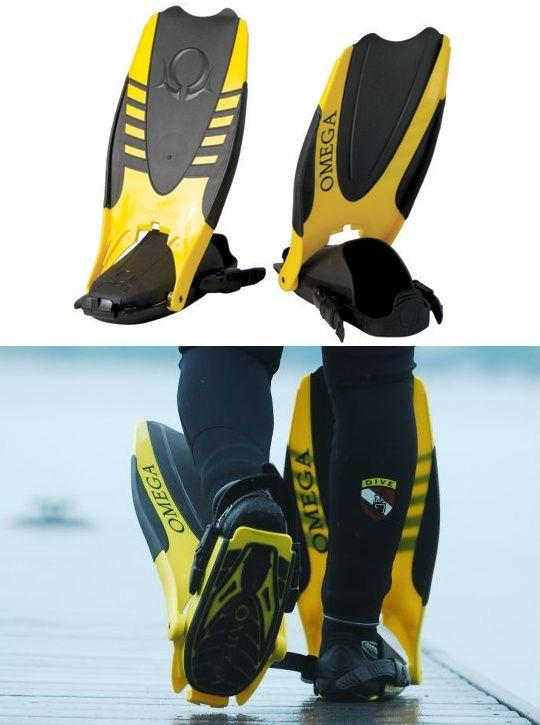 Folding Scuba Fins - Omega Aquatics Amphibian Flipfins | Be Sportier