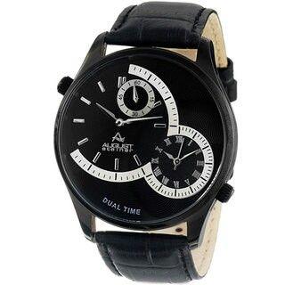 August Steiner Dual Time Men's Watch Sales!!!!!! 76% OFF !!!!!