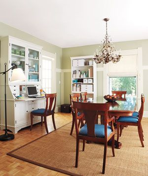 office in the dining room
