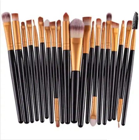 Makeup Brush Beauty Tool 20pcs – Black