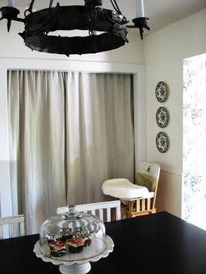 Wonderful Dropcloth Curtains For Pantry Doors