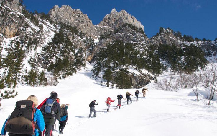 Snowshoeing in Valbonë