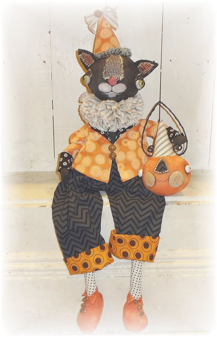 Patches The Halloween cat.   From Cindy Conrad of The Pixie's Thimble