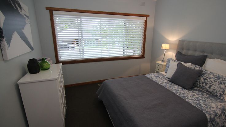 Luxaflex Wood Essence Blinds in 63mm Snow White from episode 7.