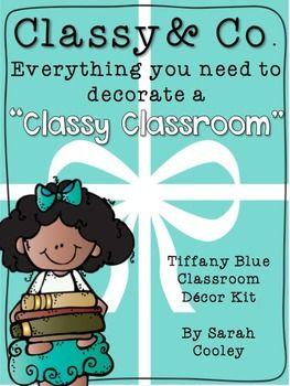 Classy & Co.:  A Classy Classroom Decor Kit--in Tiffany Blue!