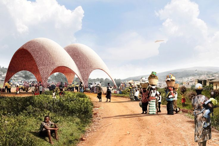 norman foster plans a droneport to assist in delivering urgent supplies