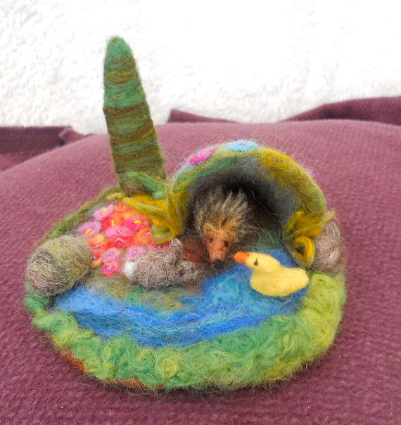 76 best images about felted playscapes on pinterest for Felted wool boulders