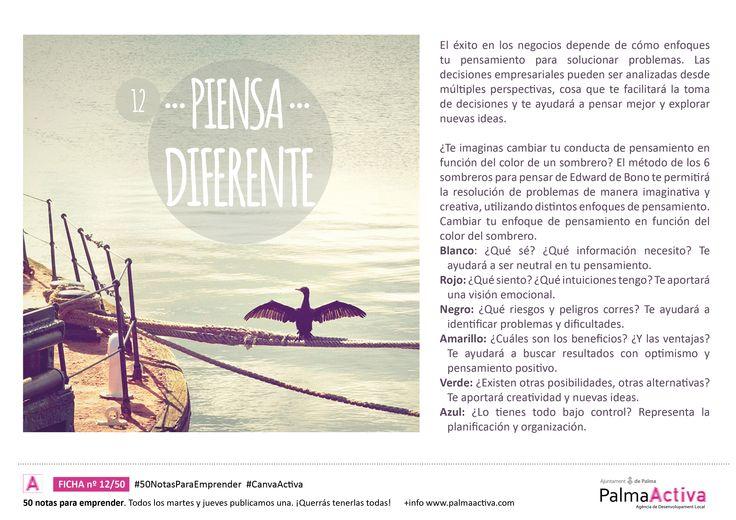 12/50 de las #50NotasParaEmprender PIENSA DIFERENTE #CanvaActiva