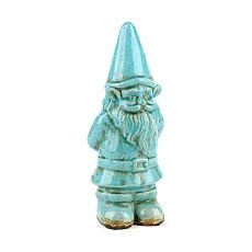 =-)  For GJ and the rest of you.  You gnow who you are. <3Patios Gnomes, Kirkland, Gardens Gnomes, Back Yards, Ceramics Blue, Gnomes Statues, Products, Turquois Gnomes, Blue Gnomes I