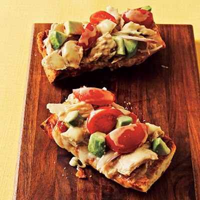 Top-Rated Budget: Tuna Melts with Avocado  Price: $2.41 per serving    Pantry Checklist:  • Olive oil  • Shallots  • Dijon mustard  • Black pepper  • Salt  • Solid white tuna in water (1 can)  • Lemon juice  • Avocado  • Cherry tomatoes  • Swiss cheese  • French bread
