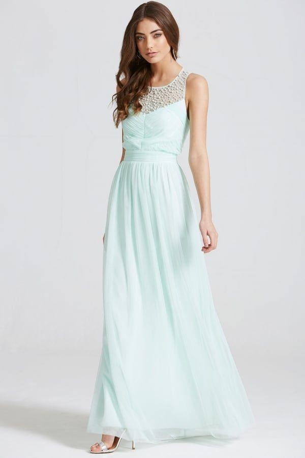Aquamarine wedding dress, perfect for a beach or destination wedding