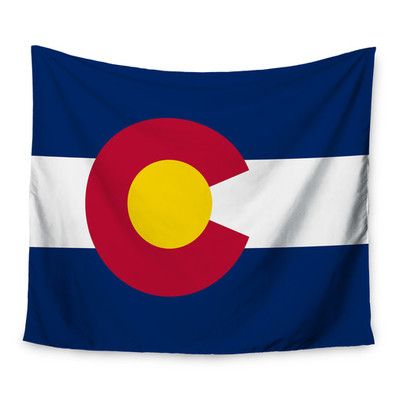 "East Urban Home Flag of Colorado II by Bruce Stanfield Wall Tapestry Size: 50"" H x 60"" W"
