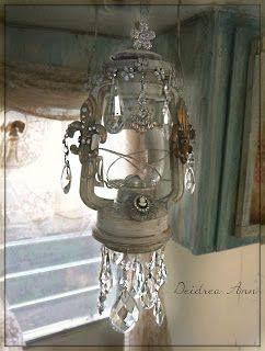 Old Lantern embellished to be suncatcher