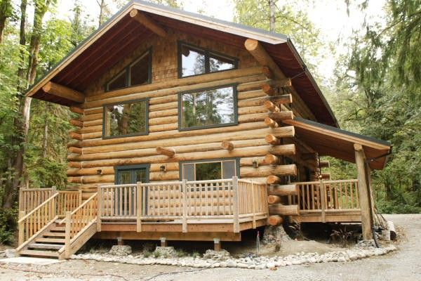 Build a butt and pass log home with my hubby real log for Butt and pass log homes