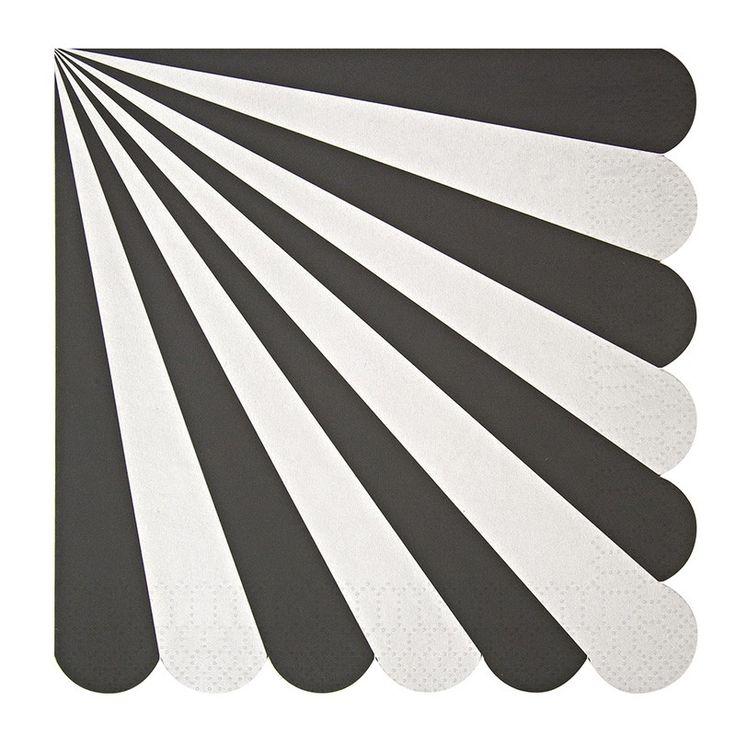 """Black Stripe"" lautasliinat 20 kpl"