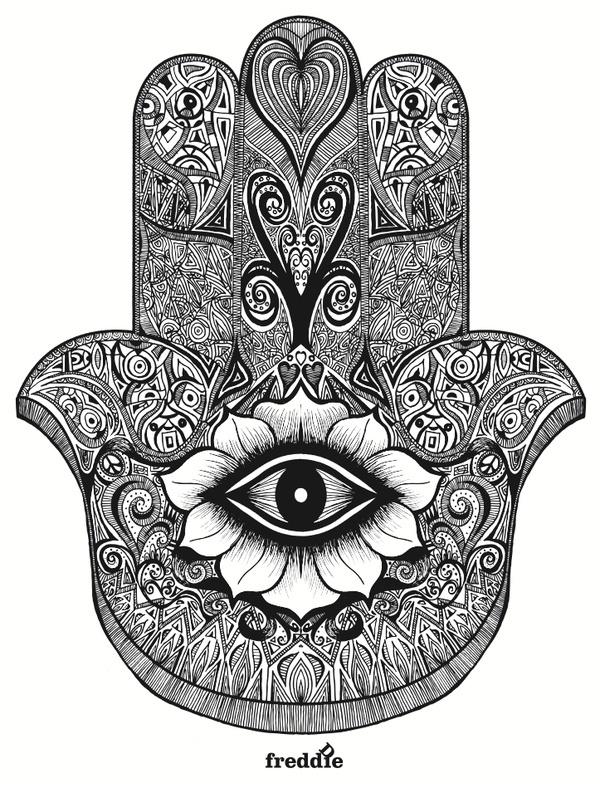 Beautiful Hamsa for possible tattoo