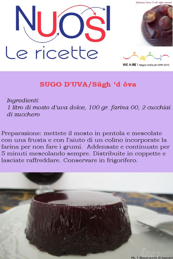 """#NoiLeRicette   #TasteReggioEmilia. Nelle campagne reggiane, il giorno della pigiatura dell'uva era un giorno di festa: anziani e bambini venivano coinvolti per celebrare la fine della vendemmia. Le rezdore cominciarono così a raccogliere il mosto, quello strato zuccherino rimasto sul fondo del """"tino"""", dopo la spillatura del vino, per preparare i sughi d'uva. #reggioexpo2015 #noiamiamomangiarbene #TasteThePlanet #food #TasteReggioEmilia #food #cibo #ricette"""